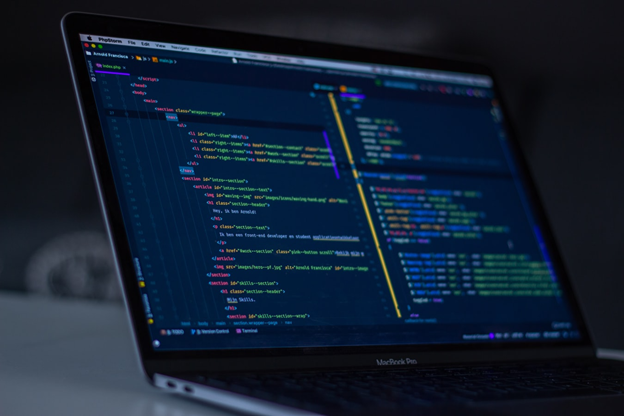Coding on Laptop Screen